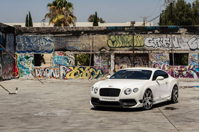 Vorsteiner Bentley Continental GT на дисках Forgiato Wheels